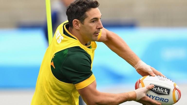 Billy Slater of Australia in training