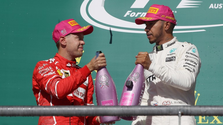 Sebastian Vettel and Lewis Hamilton have shared the podium seven times this year
