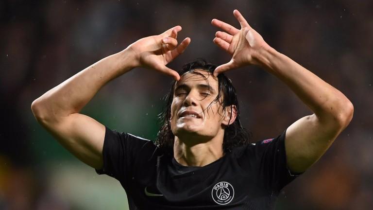 PSG striker Edinson Cavani was top scorer in France