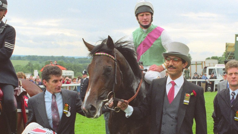 Commander In Chief led in by the youthful Prince Khalid Abdullah: Delahooke bought both the sire and dam