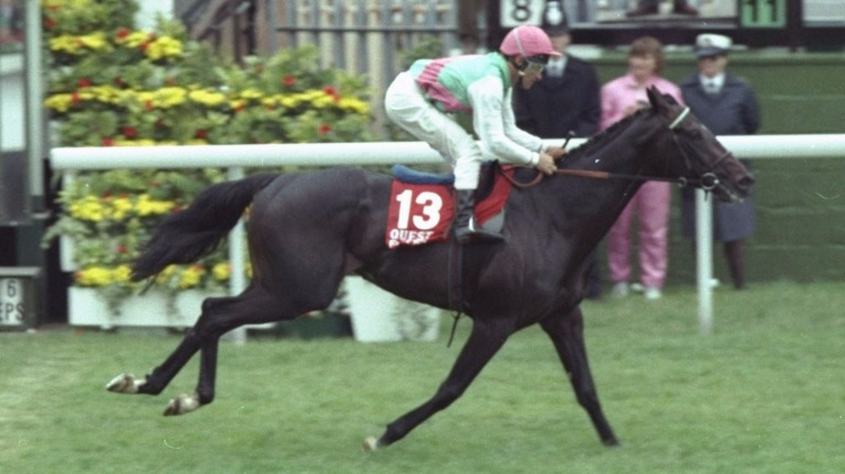 Quest For Fame: the 1990 Derby winner is the closest Roger Charlton has come to victory in the Breeders' Cup