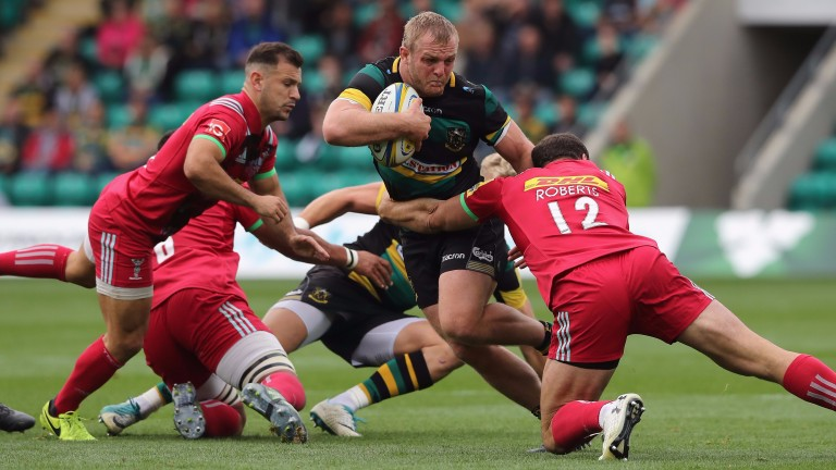 Northampton made it three home wins out of three in the Premiership against Harlequins