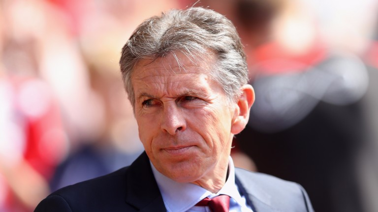 Claude Puel takes charge of Leicester for the first time