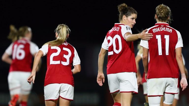 Arsenal's Dominique Janssen and Vivianne Miedema