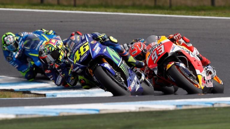 Valentino Rossi leads the field in Australia