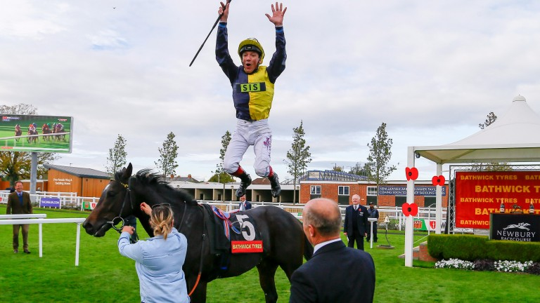 Frankie Dettori drew praise from Charlie Hills after his winning ride aboard Nebo