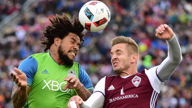 Seattle's Roman Torres (left) could have his work cut out in Vancouver