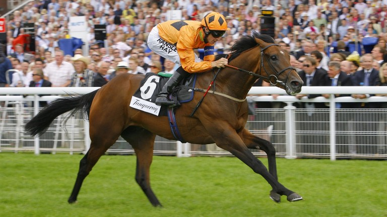 Harbour Watch wins the 2011 Group 2 Richmond Stakes under Richard Hughes