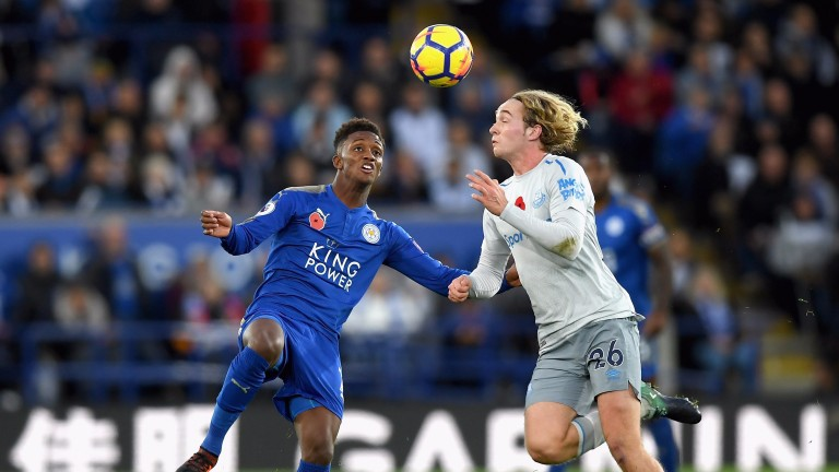 Demarai Gray (left) impressed against Everton