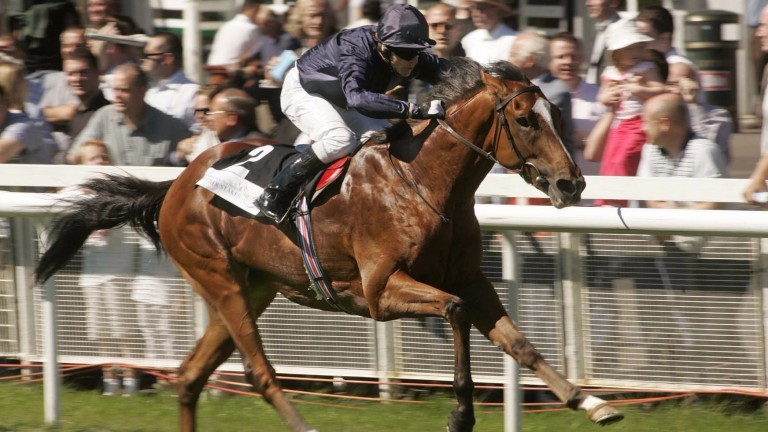 George Washington en route to victory in the Phoenix Stakes at two