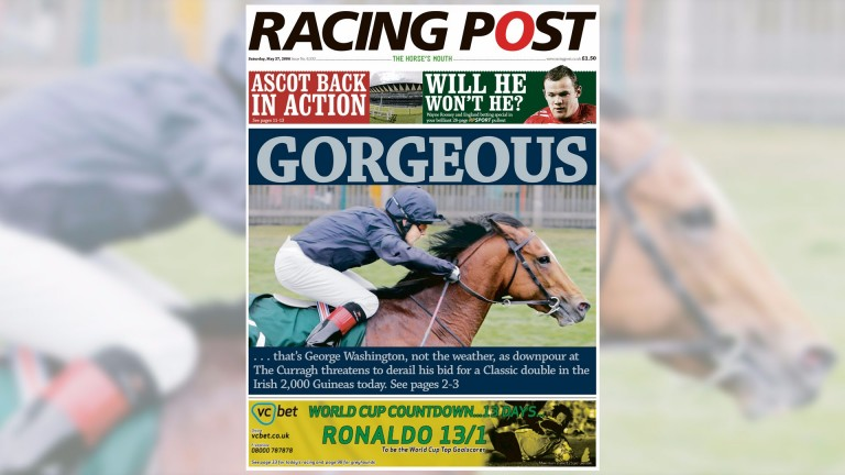 The Racing Post on the day of the Irish 2,000 Guineas speculates on George Washington's aptitude for heavy going