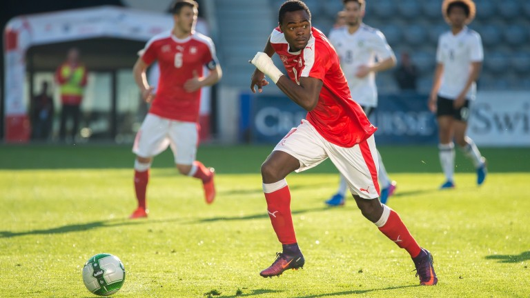 Dimitri Oberlin in action during an U20 international friendly