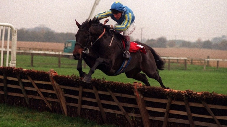 Marello (Peter Niven) is clear at the last in the Tote West Yorkshire Hurdle at   Wetherby
