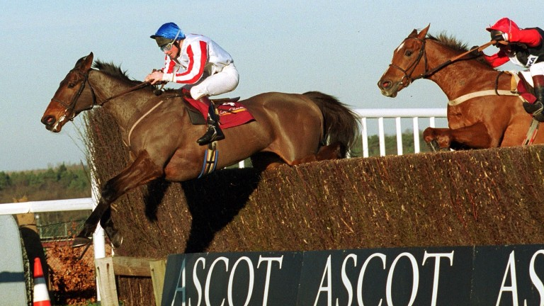 Function Dream (Tony Ross) beats Cenkos in the Victor Chandler Chase at Ascot