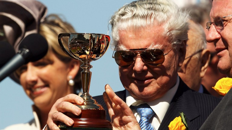 Bart Cummings after winning the Melbourne Cup with Viewed in 2008
