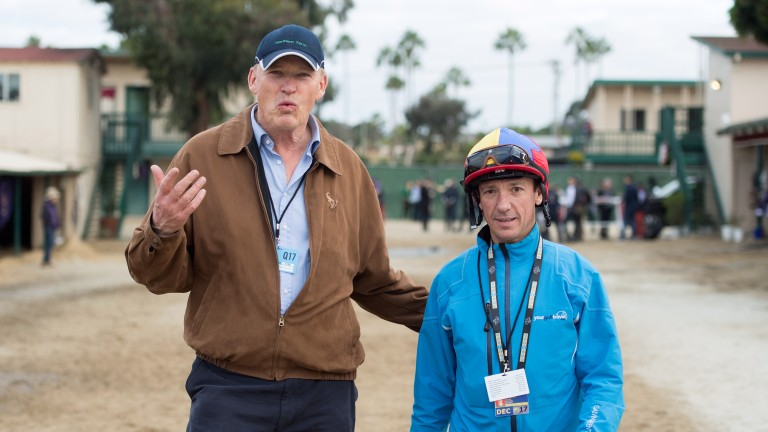 John Gosden and Frankie Dettori at Del Mar for the Breeders' Cup