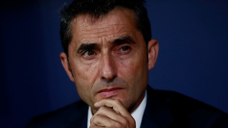 Ernesto Valverde has adopted a more conservative approach with Barca