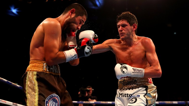 Jamie McDonnell (right) lands a punch on Fernando Vargas last year