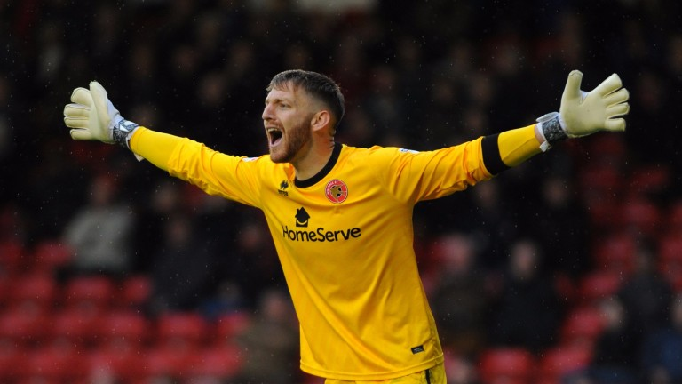 Walsall keeper Mark Gillespie hasn't had much protection from his defence this season