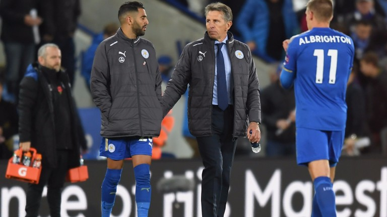 Riyad Mahrez and Claude Puel discuss Leicester's win over Everton