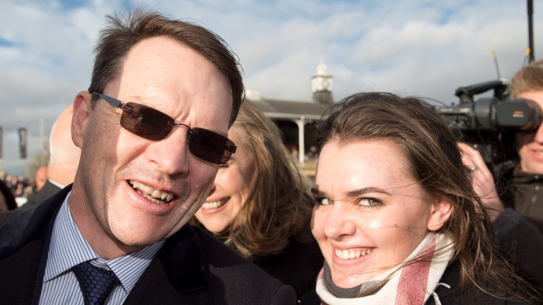 """Aidan and Ana O'Brien after Saxon Warrior won the Racing Post Trophy: """"Knowing Ana was going to be okay was not only the highlight of my year but the highlight of my life"""""""