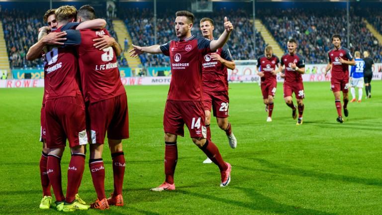 Nuremberg celebrate scoring against Darmstadt