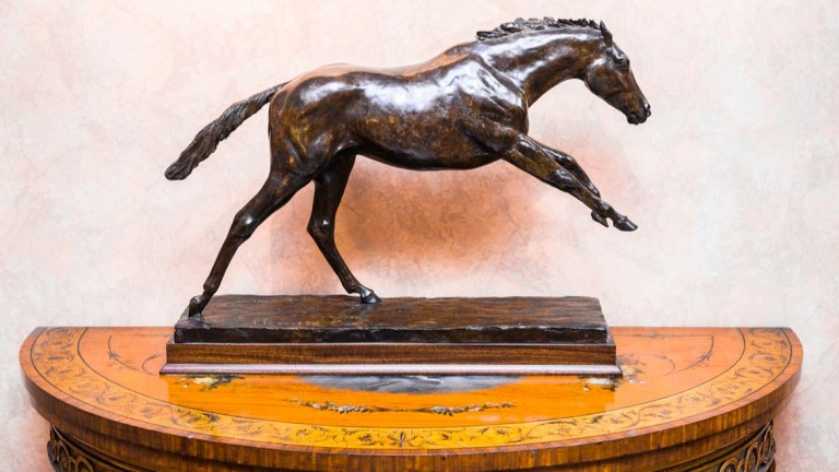 Lot 7: Philip Blacker bronze of Peter O'Sullevan's sprinter Be Friendly, the lifesize version of which is at Haydock Park