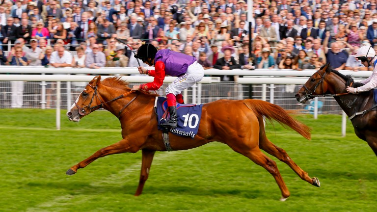 Recorder lands the 2015 Acomb Stakes at York