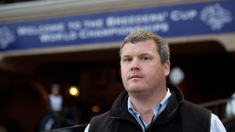 Gordon Elliott at Del Mar last week ahead of the Breeders' Cup