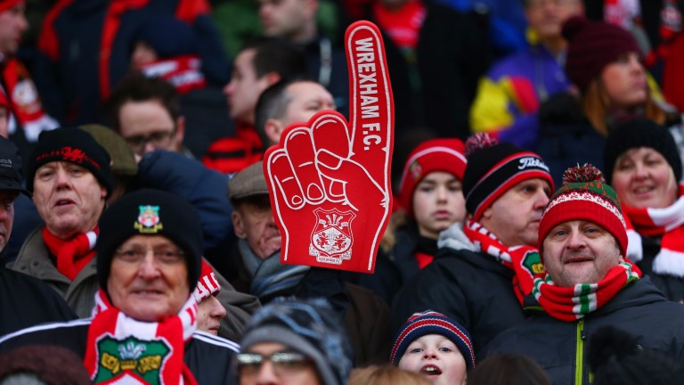 Wrexham fans give their team a big finger
