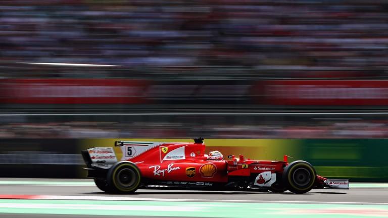 Sebastian Vettel in action in Mexico