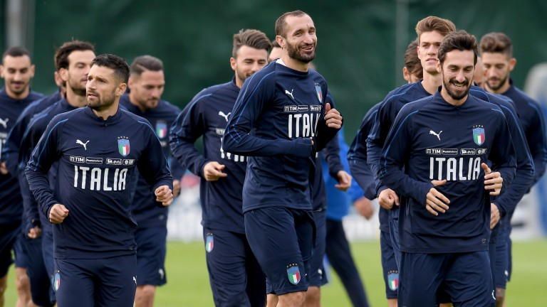 Italy prepare for their World Cup playoff against Sweden