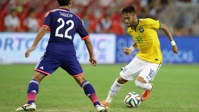 Neymar scored all four goals against Japan