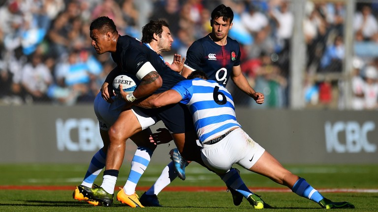 England number eight Nathan Hughes caught the eye with his powerful carries in Argentina