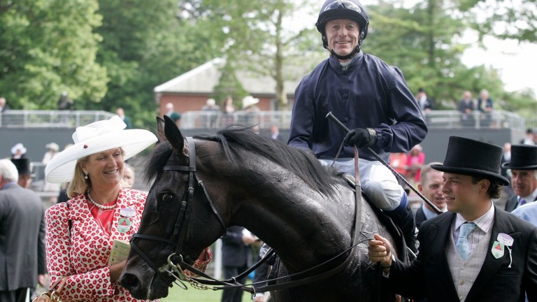 Kieren Fallon in the winner's enclosure at Royal Ascot after Yeats won the 2006 Gold Cup
