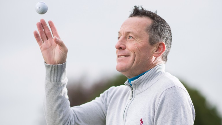 Kieren Fallon, whose autobiography Form has recently been published, in playful mood