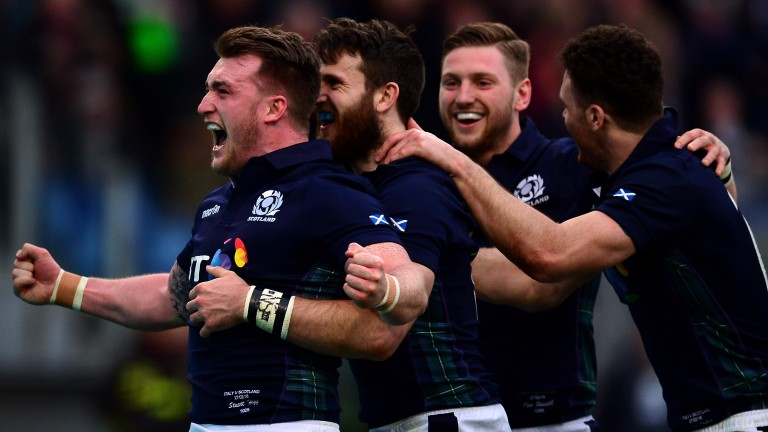 Glasgow stars Stuart Hogg, Tommy Seymour and Finn Russell are in the Scotland backline