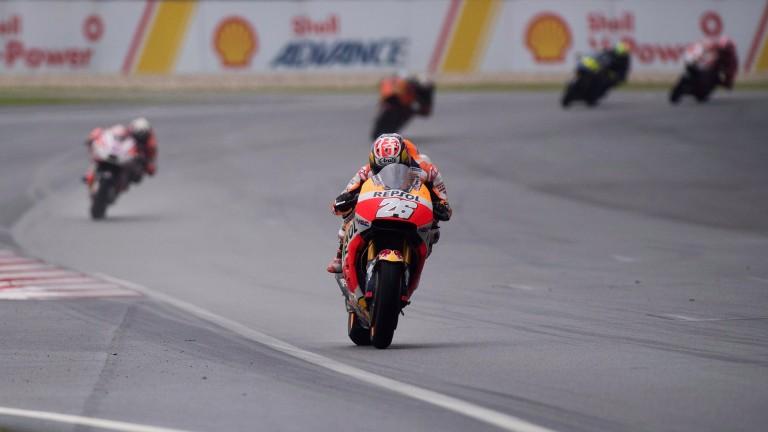 Dani Pedrosa leads the field in Malaysia