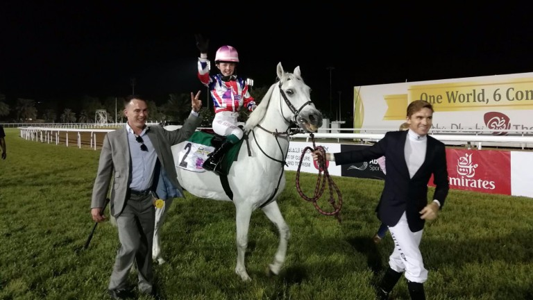 Mia Ann Nicholls won the first ever International Pony race at Abu Dhabi