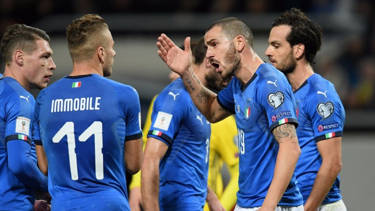 Italy are set for a tense second leg against Sweden in Milan
