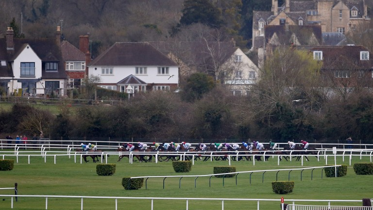 Cheltenham racecourse: recorded 22mm of rainfall over the weekend