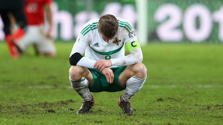 Steven Davis cuts a dejected figure after Northern Ireland missed out on the World Cup finals