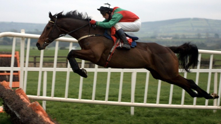 Limestone Lad on his way to winning a second Morgiana Hurdle in November 2001