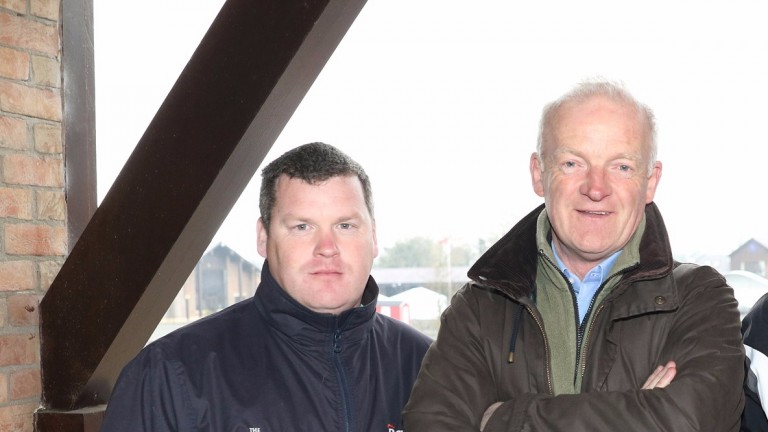 Gordon Elliott and Willie Mullins (right): on course to deliver another memorable end to the jumps season