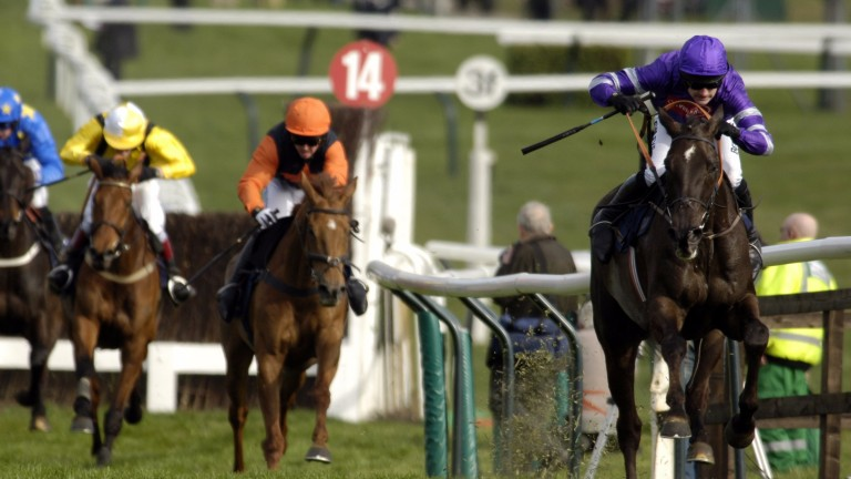 Ruby Walsh and Denman en route to a stunning victory in the RSA Chase in 2007