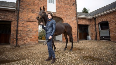 Venetia Williams with promising second-season chaser Belami Des Pictons