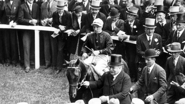Lord Derby, the ultimate game changer, leads in Hyperion after his win in the 1933 Derby