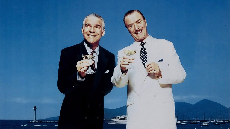 "Birch's frauds ""were reminiscent of Michael Caine (right) and Steve Martin (left) in Dirty Rotten Scoundrels"", according to the prosecution"