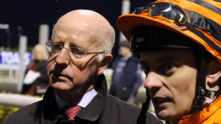 Classic-winning trainer John Oxx with Declan McDonogh, who will ride as a freelance next term