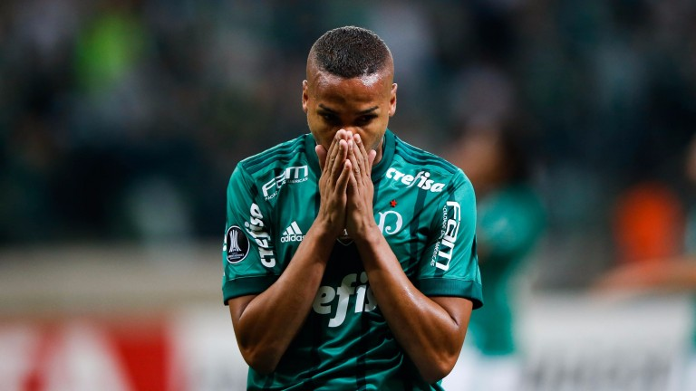 Deyverson scored twice for Palmeiras against Flamengo on Sunday